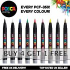 Uni Posca PCF-350 Brush Tipped Fabric Porcelain Marker Pen *BUY 4, PAY FOR 3*