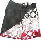 QUIKSILVER mens boardshorts Tiago 20 grey red surf shorts