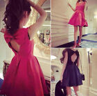 Bowknot Women Ball Gown Mini Homecoming Cocktail Evening Prom Ladies Swing Dress