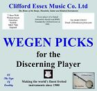 WEGEN PICKS. GYPSY JAZZ, BLUES, JAZZ & ELECTRIC GUITARS, MANDOLIN AND BANJO.