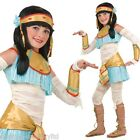 7 Pc Girls Egyptian Cleopatra Mummy Book Day Fancy Dress Costume Outfit 3-10 yrs