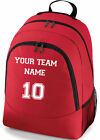 PERSONALISED SPORTS FOOTBALL RUGBY TEAM NAME SCHOOL COLLEGE SPORTS BAG BACKPACK