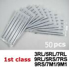 Pro Steriled 50pcs Tattoo Disposable Steel Needles RL RS F M1 M2  You Pick Size