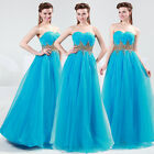 Long Maxi Charm Homecoming Prom Party Bridesmaid Ball Evening Wedding Dress 6-20