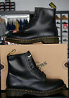 Mens Dr Martens Leather Designer Stylish 8 Eyelet Dress Casual Boots Black 1460