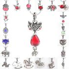 Mixed Styles Aniaml Floral Crystal Rhinestone Glass Stone Pendant Charms Jewelry