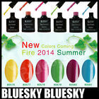 NEW COLOUR BLUESKY SUMMER RANGE UV/LED SOAK OFF GEL NAIL POLISH 10ML FREE P/P