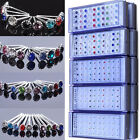 Wholesale Lot 40PC Mixed Color Crystal Ear Stud 925 Sterling silver Earrings NEW
