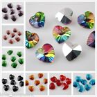 10pcs New 14x8mm Faceted Heart Glass Crystal Charms Pandent Spacer Finding Beads