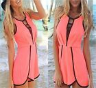 Women Summer Sexy Hollow Sleeveless Jumpsuit Hot Pant Short  Dress Playsuit -LJ