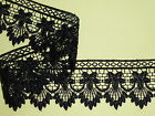 """Quality Black Venise Guipure Lace Trim 2"""" Sewing Crafts Cards Costume Dress Top"""