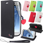 Cherry Leather Stand Flip Wallet Cover Case for Samsung Galaxy S3 S4 S5 Note 3