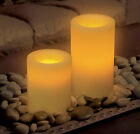 Flameless Real Wax Candle Vanilla Scented Wedding Pillar Church Battery Timer