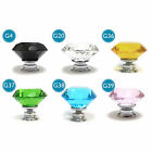 Diamond Faceted Crystal cupboard Door Drawer Kitchen cabinet handles Knobs