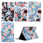 Flower Flip Leather Wallet Stand Case Cover For Samsung Galaxy Tab3 Lite T110