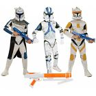 OFFICIAL NEW BOYS KIDS CLONE TROOPER STAR WARS KIDS FANCY DRESS COSTUME OUTFIT
