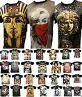 MENS SUBLIMATION SHORT SLEEVE T-SHIRT CHEETAH CLEOPTRA LEPARDS CALI SWAG MEDUSA