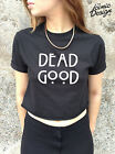 DEAD GOOD Crop Top Tank Tumblr Fashion Black Grunge Horror Story Normal People