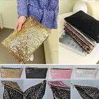Women Sparkling Dazzling Sequins Clutch Bags Purse Handbag Evening Party Bag HOT