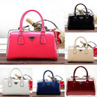 Retro Large Lady women's bags handbag Shiny patent leather bag Jelly bag ZB0011