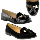 NEW LADIES WOMENS FLAT DOLLY SHOES WORK OFFICE SCHOOL PUMPS LOAFERS BALLET SIZE