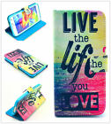 Live the life Stand Hybrid Leather Case Cover for Various Samsung iphone Phones