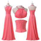 HOT SELL~Womens Long Chiffon Cocktail Dress Bridal Party Wedding Evening Formal