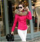 women's short paragraph Slim fur collar cotton jackets coats outerwear