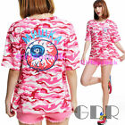 2 COL QUEEN COLLECTION PUNK PINK EYES CUTE  6925 SHIRT