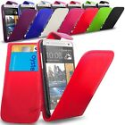 HTC ONE MINI M4  -New PU Leather Flip Case Cover Pouch & Screen Protector
