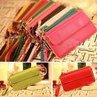 Womens Ladies PU Faux Leather Bifold Card ID Holder Clutch Bag Wallet Zip Purse