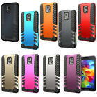 Armor Hybrid Impact Shockproof Silicone Case Cover For Samsung Galaxy S5 i9600