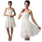 ❤CHEAP❤ 1 Vintage Lace Evening Party Bridesmaid Wedding Formal Short Prom Dress