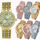 Hot Sales Gold Rose Silver Bling Crystal Lady Womens Analo Quartz Wrist Watch HT