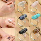 Fashion Gemstone Adjustable Finger Rings Healing Point Chakra Bead Stone Ring