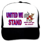 trucker hat cap foam mesh poly-foam UNITED WE STAND usa didn't get memo