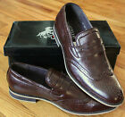 NEW Mens 8.5-12 Martello Hand Made Leather lined Brown WingTip SHOES Retail $105