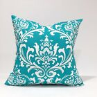 True Turquoise Damask / OzborneThrow Pillow Cover Pillow Case/Sham/Kidney/Lumbar
