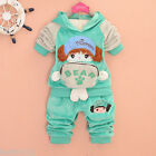 2 Pcs Baby Toddler Girl Hoodie Suit Outfit Sportswear Jogging Suit Tracksuit