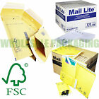 AROFOL & MAIL LITE GOLD WHITE JIFFY STYLE PADDED BUBBLE ENVELOPES BAGS ALL SIZES