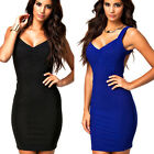 Womens Sexy Slim Fit Cocktail Bodycon Bandage Clubwear Evening Party Mini Dress