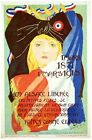 6252.Blonde woman with bow tie on head.french flag.POSTER.Home Office art