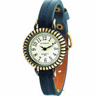Fashion Vintage Ladies Lady Watch Classic Ladys Quartz Leather Dial Wrist