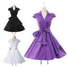 ❤UK SALE~50s Vintage Dress Rockabilly Pinup Swing Housewife Evening Party❤ TREND