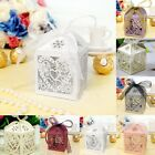 50 pieces Love Heart Party Wedding Favor Ribbon Candy Boxes Gift Box
