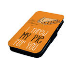 Orange New Black Printed Faux Leather Flip Phone Cover Case