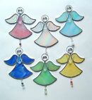 New Guardian Angel stained glass suncatcher gemstone beads house warming healing
