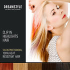 8pcs Sythetic Clip In Hair Extension Hightlights