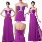 Sexy V-Neck Evening Prom Bridesmaid Long Formal Homecoming Pageant Wedding Dress