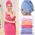 Women Girl Gift Magic Fast Drying Dryer Bath Cap Wrap Twist Hat Hair Dry Cap
